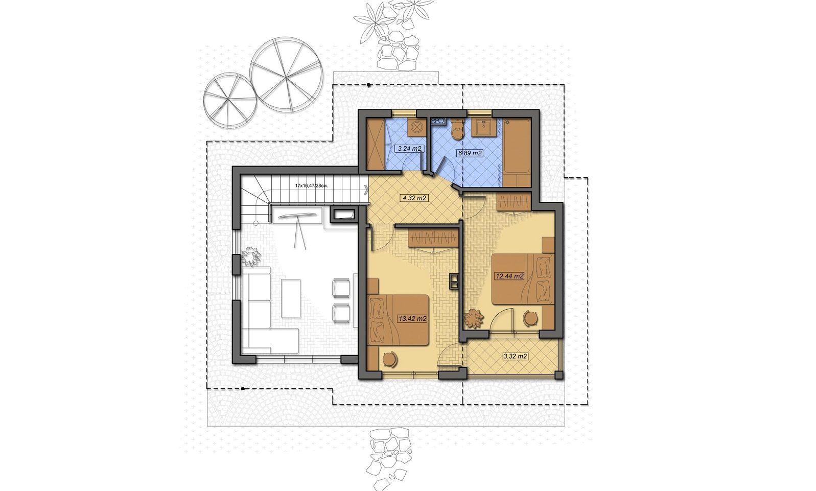 Casa din Povesti plan etaj - Cartierul Buna Ziua Tartasesti nord vest Bucuresti