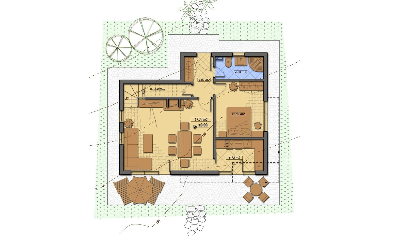 Casa din Povesti plan parter - Cartierul Buna Ziua Tartasesti nord vest Bucuresti